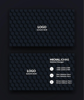 Black creative and clean corporate business card templates