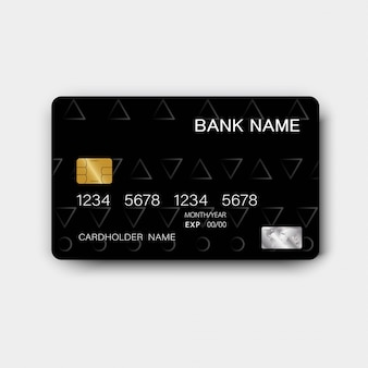 Black credit card design