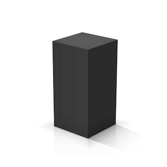 Black cuboid