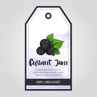 Black currant jam collection