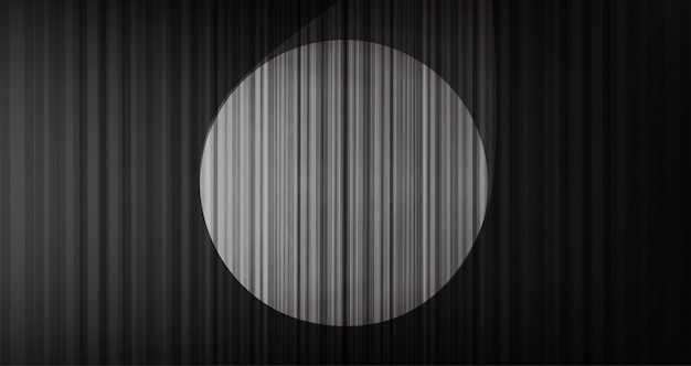 Black curtain background with stage light