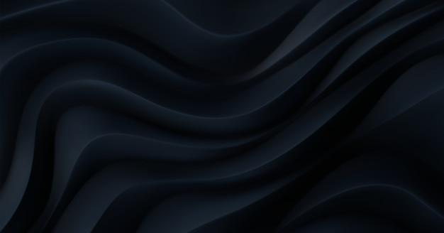 Black curvy pattern surface. minimalist geometric cover design