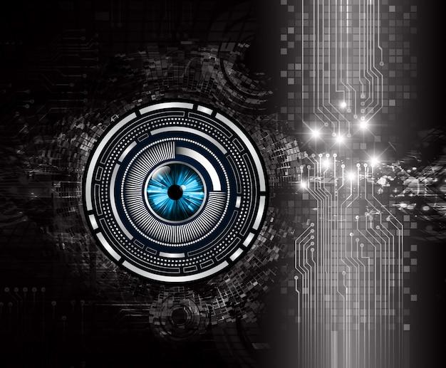 Black cyber circuit background