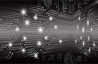 Black cyber circuit board future technology