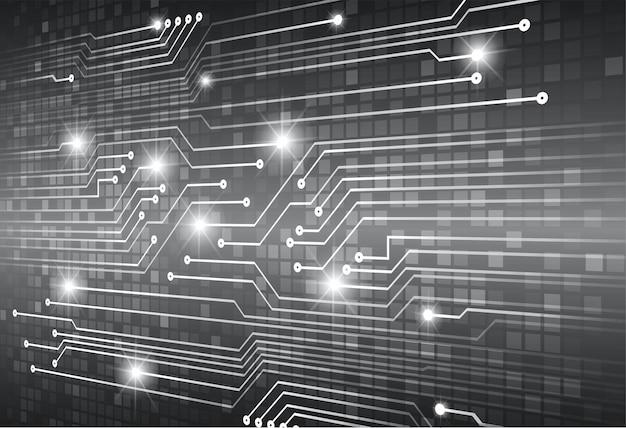 黒サイバー回路の将来の技術概念の背景