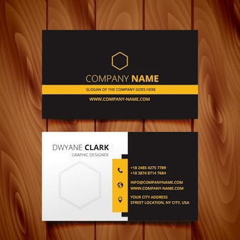 Black dark business card modern design