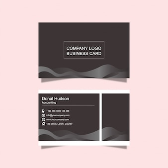 Black and dark business card