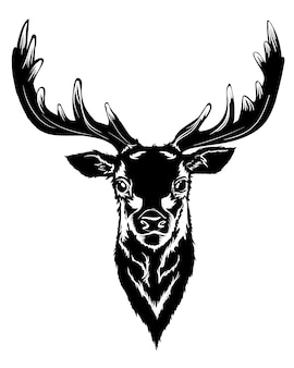 Black deer head