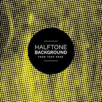 Black dots half tone background desing