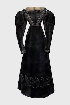 검은 드레스 벡터 빈티지 일러스트레이션, bessie forman의 작품에서 리믹스.