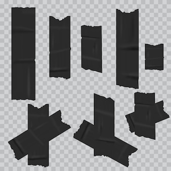 Black duct adhesive tape realistic. .