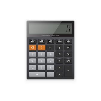 Black electronic calculator