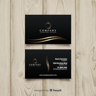 Black elegant business card template