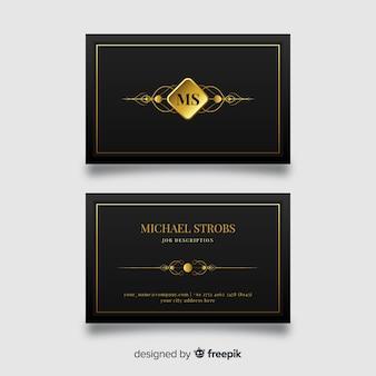 Black elegant business card template