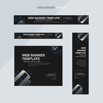 Black elegant web banner template