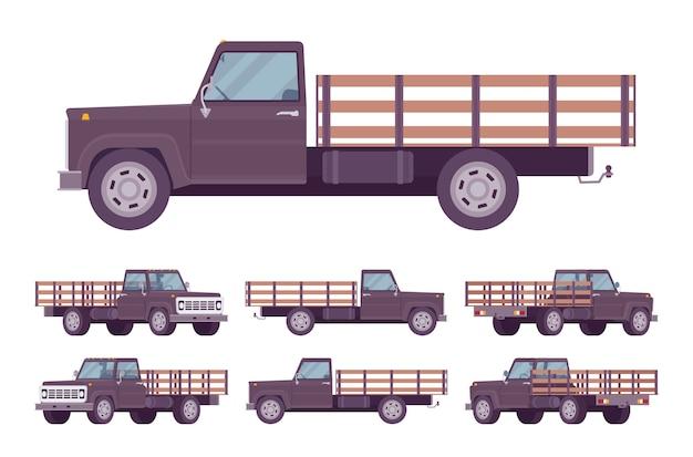 Black empty truck