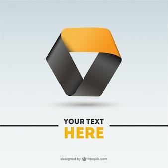 Black en yellow abstract logo