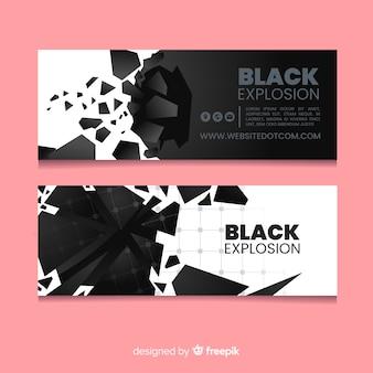 Black explosion banner