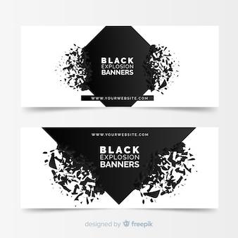 Черные баннеры взрыва
