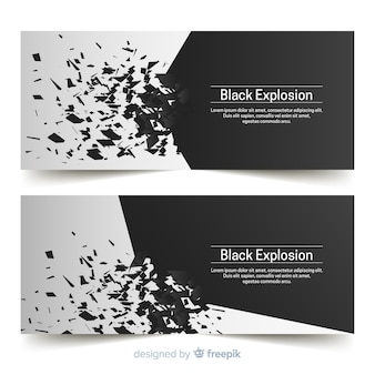 Black explosion banners