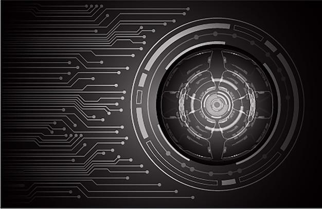 黒い目のサイバー回路将来の技術コンセプトの背景