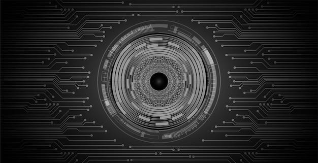 Черный глаз кибер цепи будущей технологии концепции фон