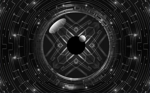 黒眼サイバー回路将来の技術コンセプトの背景