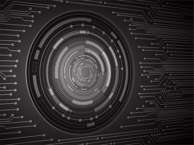 黒目サイバー回路の将来の技術概念の背景