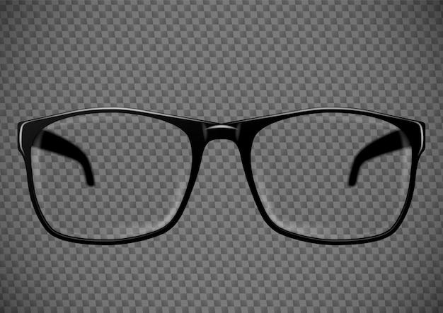 Black eye glasses. spectacles illustration