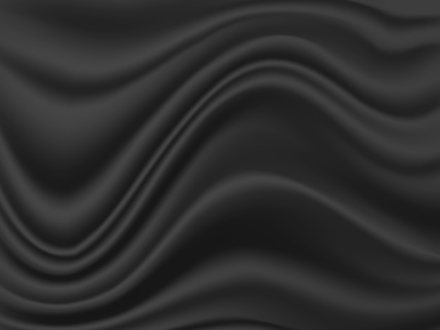 Black fabric wave or wavy texture background