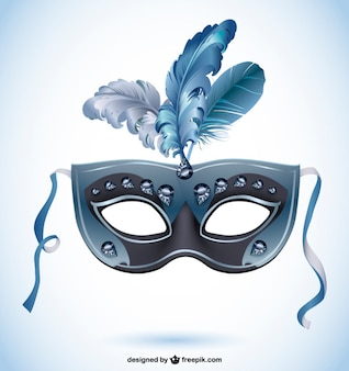 Black feather canival mask