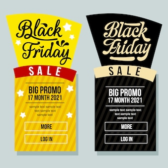 Black firiday sale banner vertical lettering