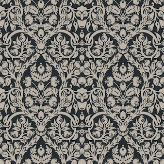 Black floral elegant pattern