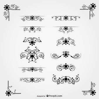 Libero vettore ornamenti floreali