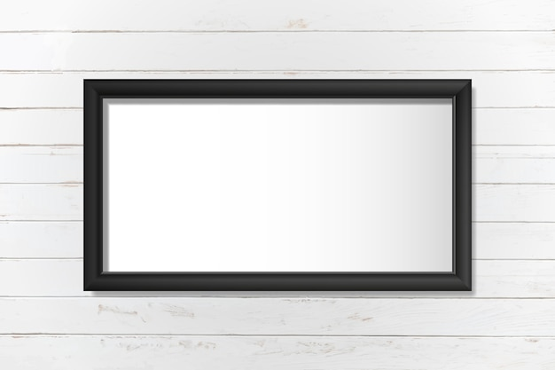 Black frame mockup on a wall vector