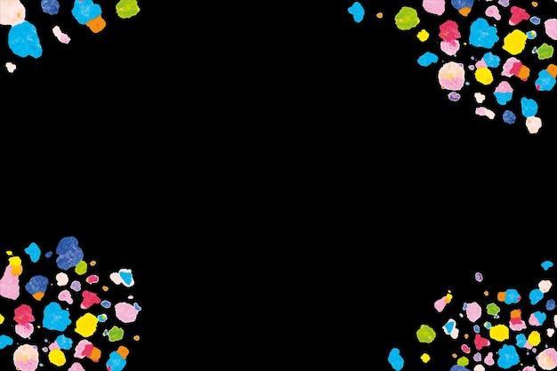 Черная рамка вектор с восковыми расплавленными мелками