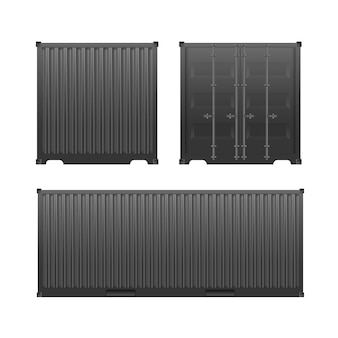 Black freight container