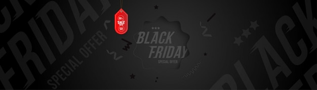 Black friday 25% off discount banner and flyer.
