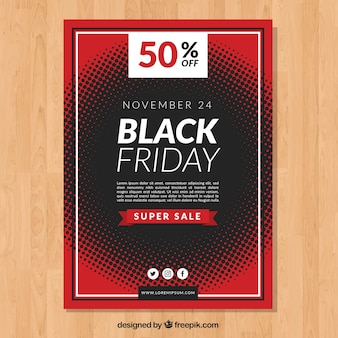Black friday abstract flyer