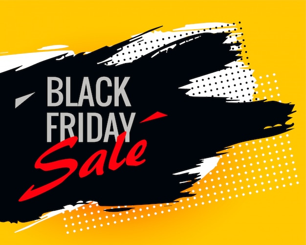 Black friday abstract sale background with ink stroke