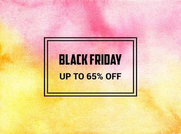Black friday abstract watercolor background texture design