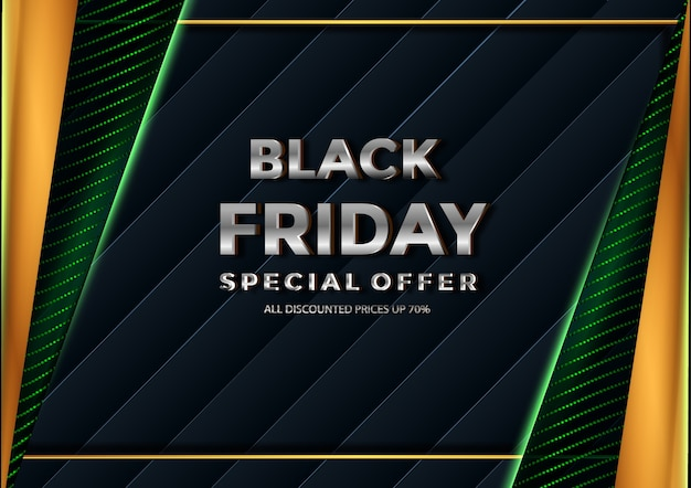 Black friday all discounted prices banner