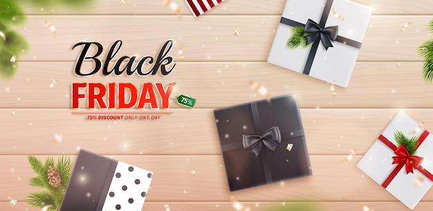 ブラックフライデーとクリスマスのバナー