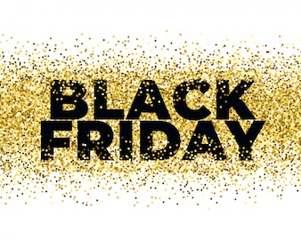Black friday backgroun with golden particles