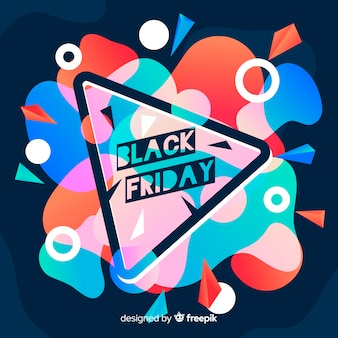Black friday background in gradient style