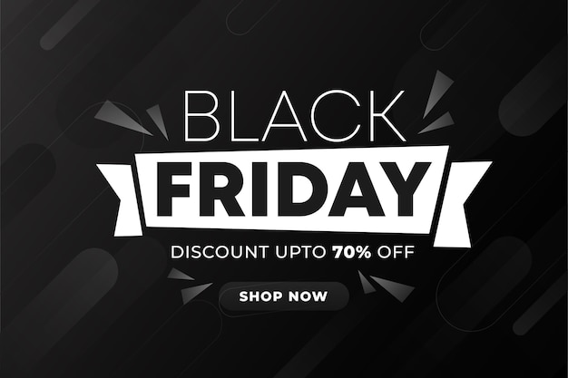 Black friday background with black gradient background