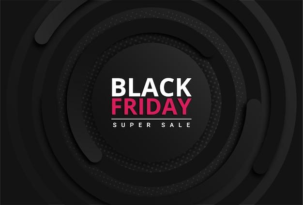 Black friday background with black gradient premium vector Premium Vector