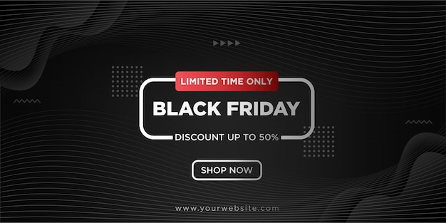 Black friday background with black gradient
