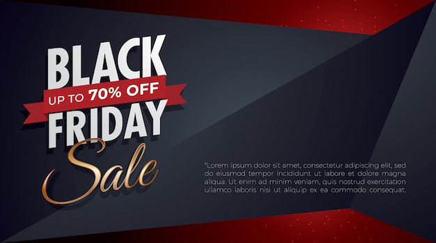 Black friday background with blank space on right