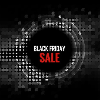 Black friday background with circle made in halftone